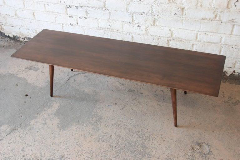 Mid-Century Modern Paul McCobb Dark Brown Coffee Table For Sale