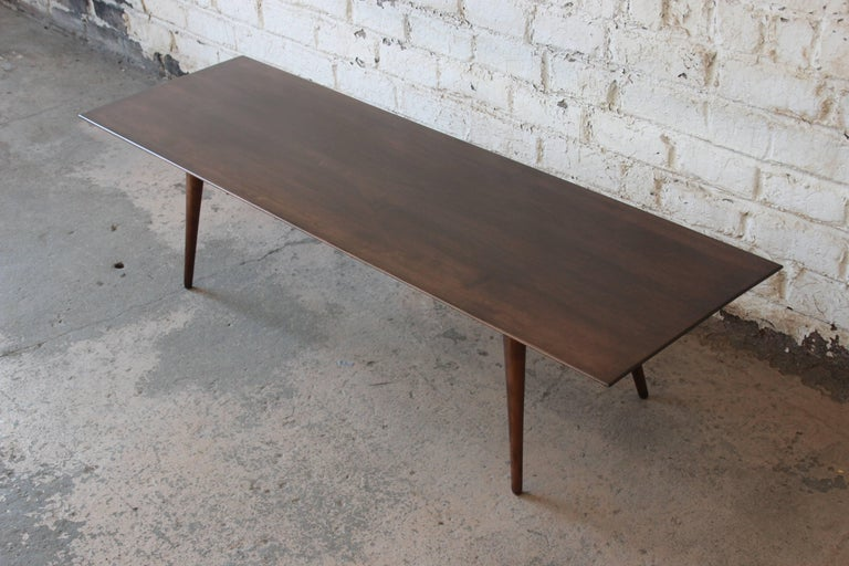 Paul McCobb Dark Brown Coffee Table In Excellent Condition For Sale In South Bend, IN