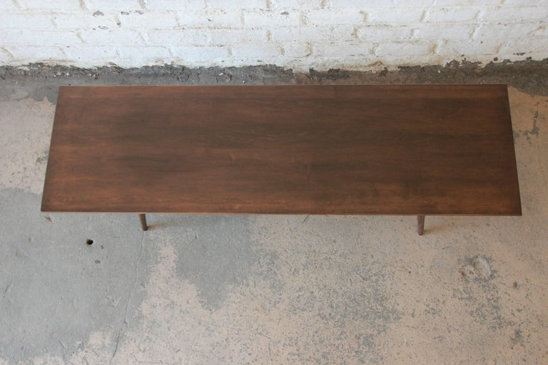 Mid-20th Century Paul McCobb Dark Brown Coffee Table For Sale