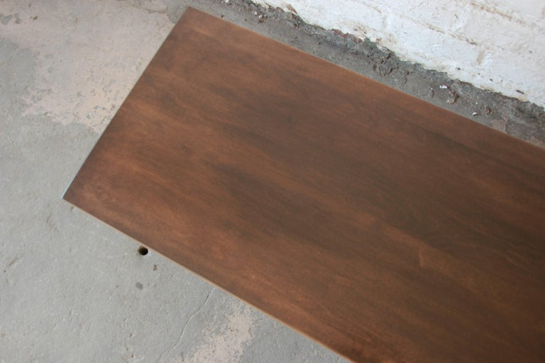 Birch Paul McCobb Dark Brown Coffee Table For Sale