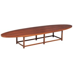 "Paul McCobb ""Delineator"" Rosewood Surfboard Coffee Table for Lane"