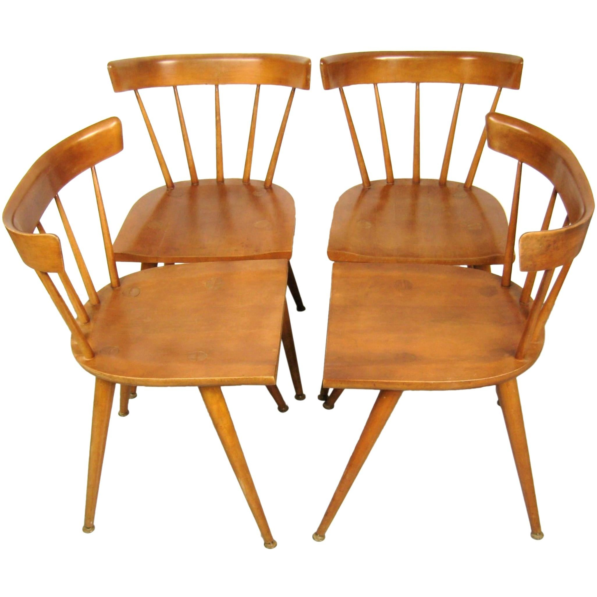 Paul McCobb Dining Chairs for Planner Group, Set of 4 Mid Century Modern