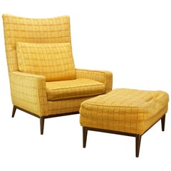 Paul McCobb Directional Nº 314 Wingback Lounge Chair Ottoman Mid-Century Retro