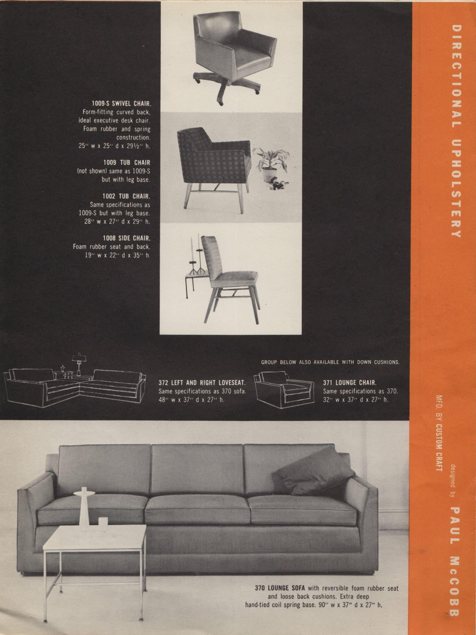 Phenomenal Paul Mccobb Directional Tub Sofa At 1Stdibs Dailytribune Chair Design For Home Dailytribuneorg