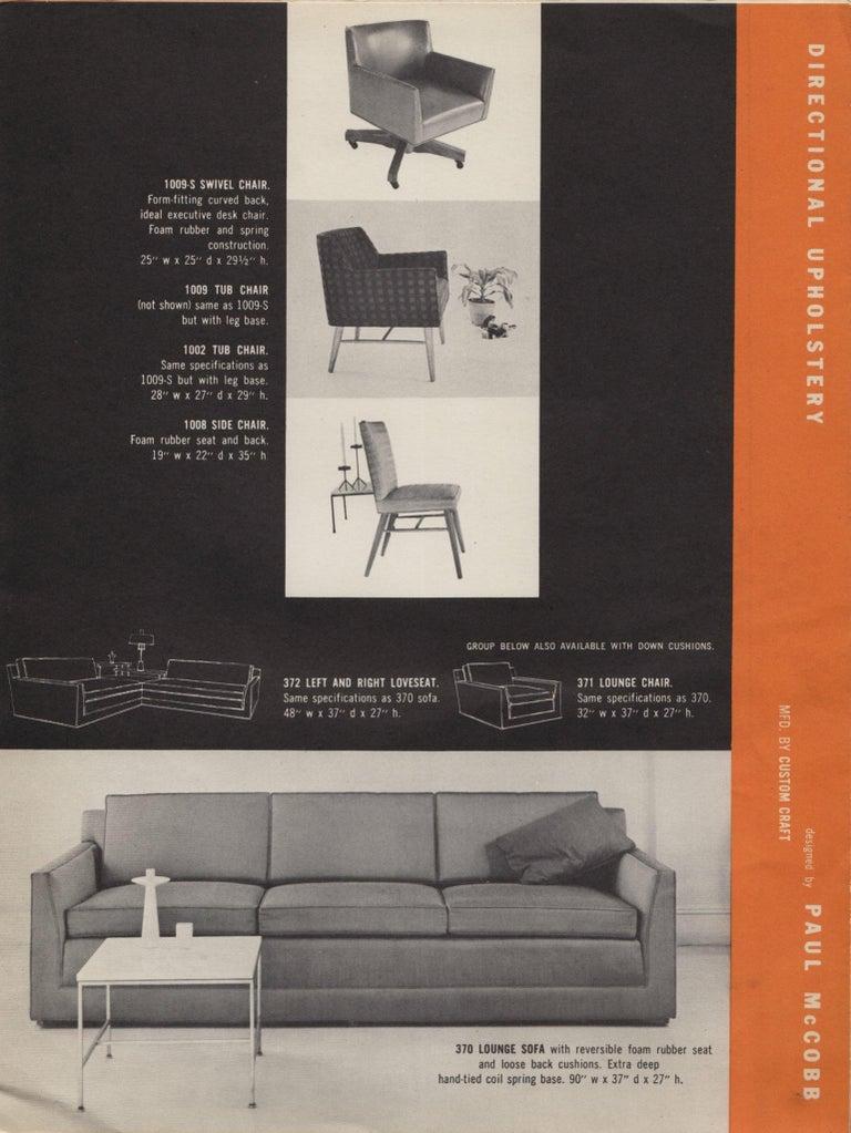 Paul McCobb Directional Tub Sofa For Sale 11
