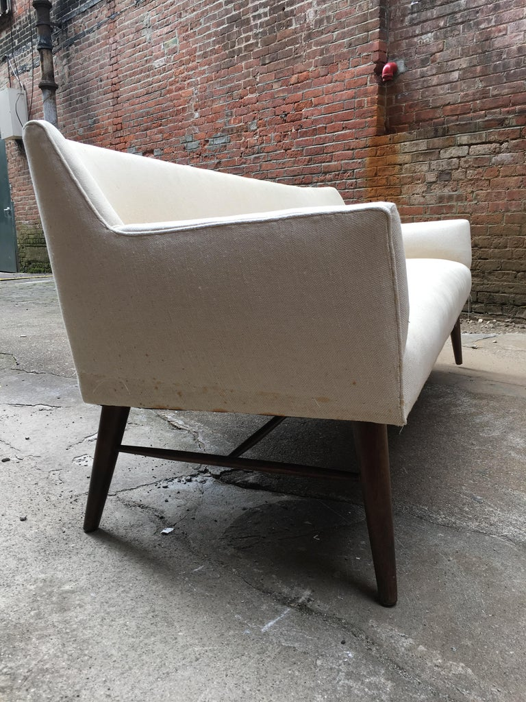 American Paul McCobb Directional Tub Sofa For Sale
