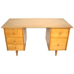 Paul McCobb Double Pedestal Desk for Planner Group Midcentury