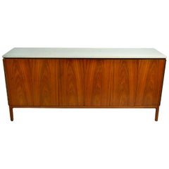 Paul McCobb Eight-Drawer Dresser Marble Top for Calvin Furniture, 1950s