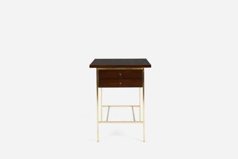 Mid-Century Modern Paul McCobb End Table on Brass For Sale