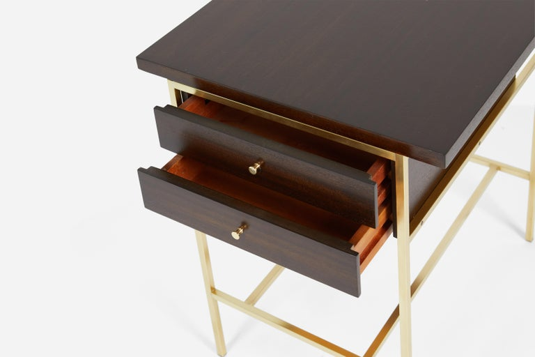 Mid-20th Century Paul McCobb End Table on Brass For Sale