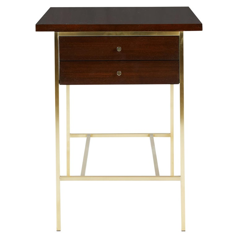 Paul McCobb End Table on Brass For Sale