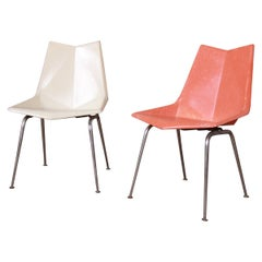 Paul McCobb Fiberglass Origami Chairs, Pair