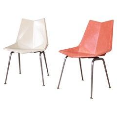 Paul McCobb Fiberglass Origami Chairs, Pair