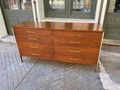 Paul McCobb for Calvin 8 Drawer Walnut Dresser