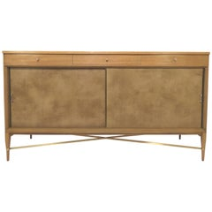 Paul McCobb for Calvin Furniture Credenza with Brass Stretchers, circa 1950s