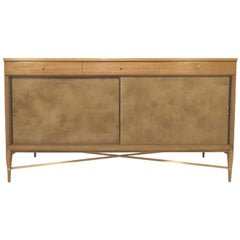 Paul McCobb for Calvin Furniture Credenza with Brass Stretchers, circa 1950s