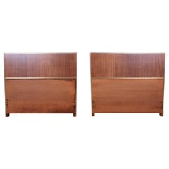 Paul McCobb for Calvin Mahogany and Brass Twin Headboards, Pair