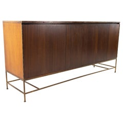 Paul McCobb for Calvin MCM 16-Drawer Mahogany & Brass Sideboard Buffet Credenza