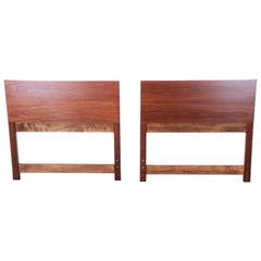 Paul McCobb for Calvin Mid-Century Modern Walnut Twin Headboards, Pair