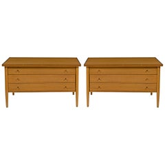 Paul McCobb for Calvin The Irwin Collection 3-Drawer End Tables or Nightstands