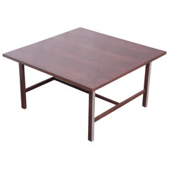 Paul McCobb for Calvin Walnut and Aluminum Coffee Table, Newly Restored