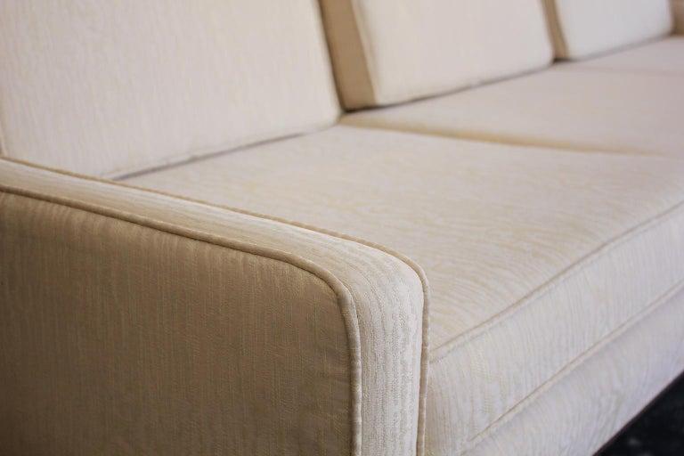 Paul McCobb for Directional 1950s Modernist Wingback Sofa Model 1307 For Sale 4