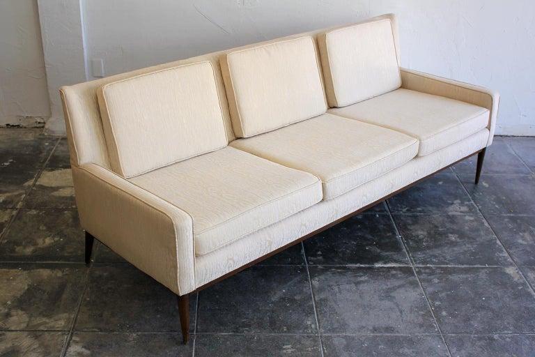 Mid-Century Modern Paul McCobb for Directional 1950s Modernist Wingback Sofa Model 1307 For Sale