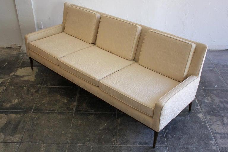 American Paul McCobb for Directional 1950s Modernist Wingback Sofa Model 1307 For Sale