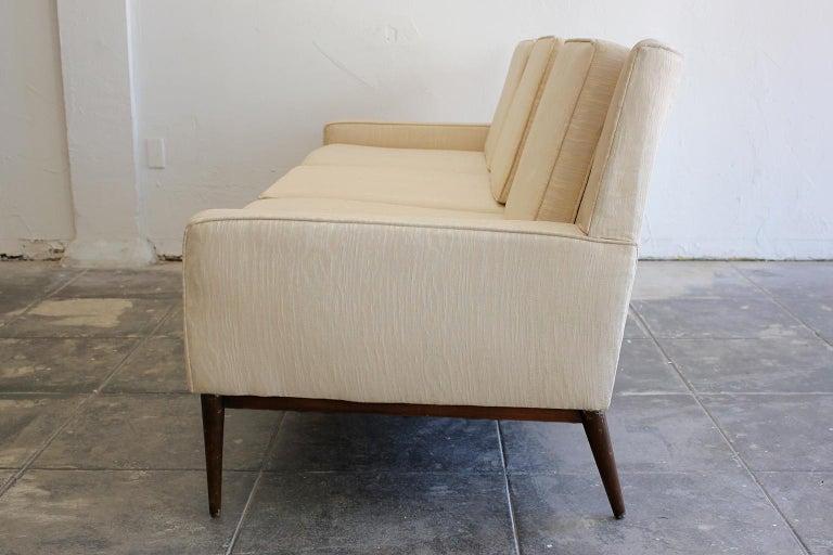 20th Century Paul McCobb for Directional 1950s Modernist Wingback Sofa Model 1307 For Sale