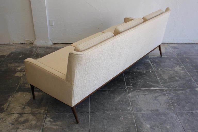 Upholstery Paul McCobb for Directional 1950s Modernist Wingback Sofa Model 1307 For Sale