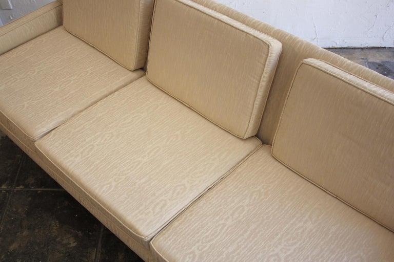 Paul McCobb for Directional 1950s Modernist Wingback Sofa Model 1307 For Sale 1