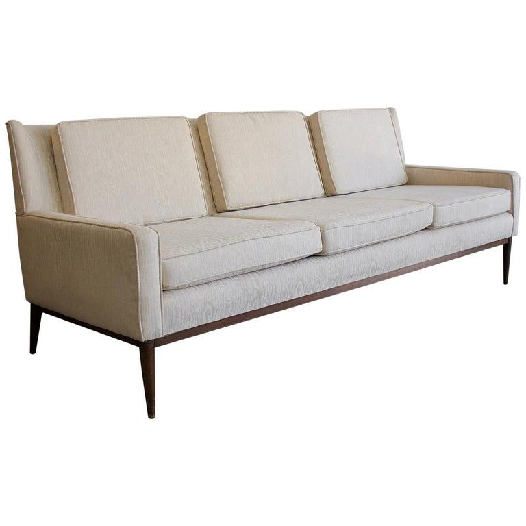 Paul McCobb for Directional 1950s Modernist Wingback Sofa Model 1307 For Sale