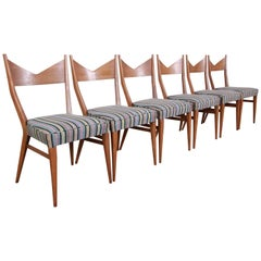 Paul McCobb for Directional Bow Tie Dining Chairs, Set of Six