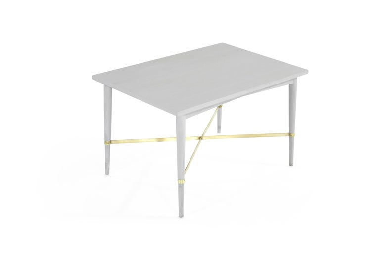 Paul McCobb for Directional Brass Stretcher End Tables In Excellent Condition For Sale In Stamford, CT