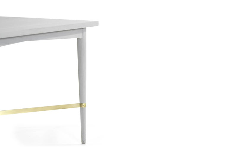 20th Century Paul McCobb for Directional Brass Stretcher End Tables For Sale
