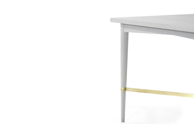 Paul McCobb for Directional Brass Stretcher End Tables For Sale 2