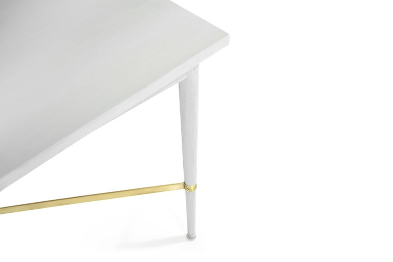 Paul McCobb for Directional Brass Stretcher End Tables For Sale 3