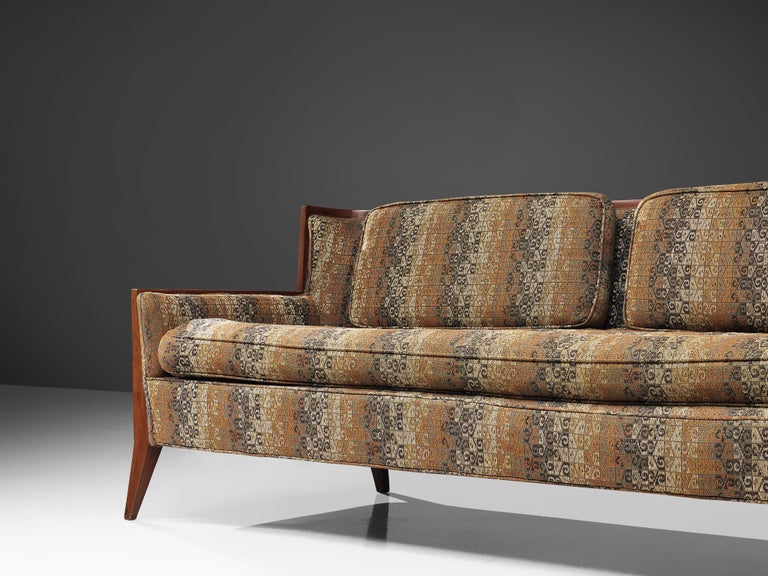 Fabric Paul McCobb for Directional Large Sectional Sofa For Sale