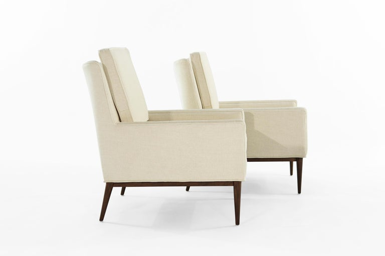 Cotton Paul McCobb for Directional Lounge Chairs, circa 1950s For Sale