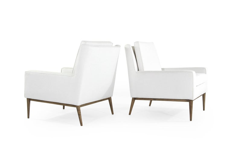 Mid-Century Modern Paul McCobb for Directional Lounge Chairs in Linen, 1950s For Sale