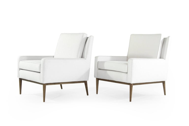 Paul McCobb for Directional Lounge Chairs in Linen, 1950s In Excellent Condition For Sale In Stamford, CT
