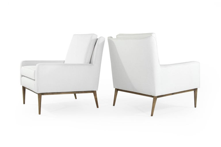 20th Century Paul McCobb for Directional Lounge Chairs in Linen, 1950s For Sale