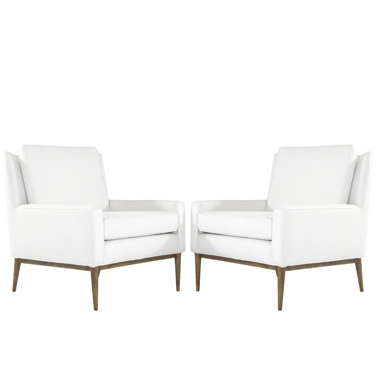 Paul McCobb for Directional Lounge Chairs in Linen, 1950s For Sale