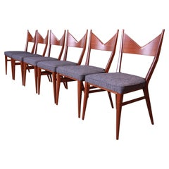 Paul McCobb for Directional Mahogany Bowtie Dining Chairs, Fully Restored