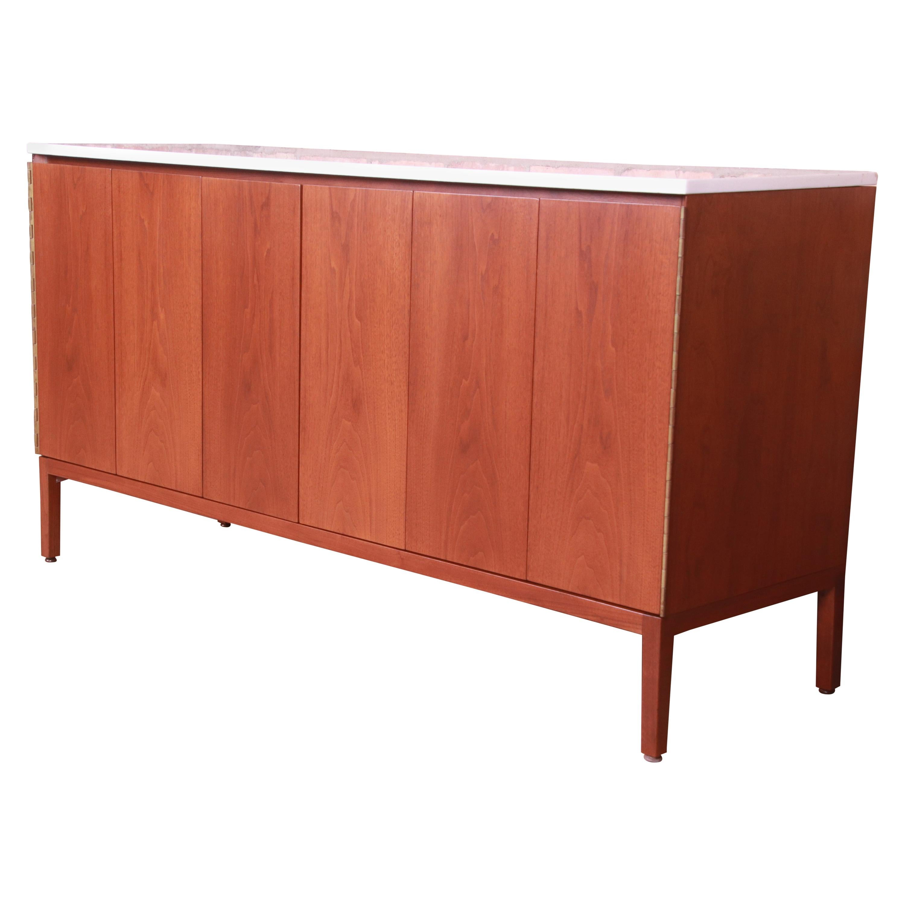 Paul McCobb for Directional Mahogany Credenza or Bar Cabinet, Newly Refinished