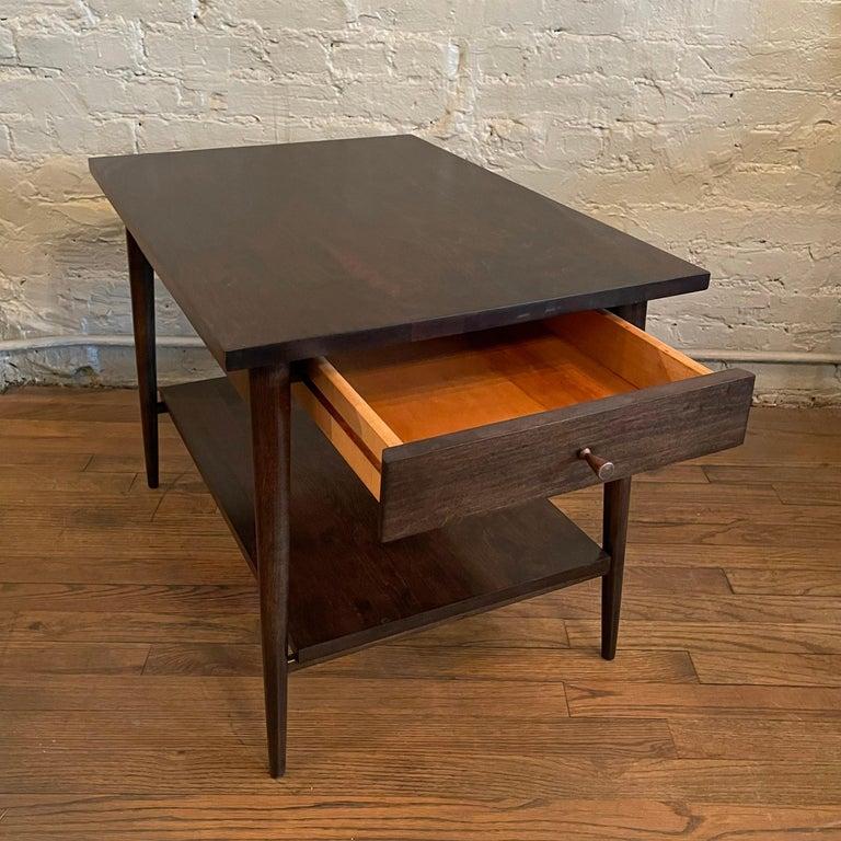20th Century Paul McCobb For Planner Group Ebonized Side Table