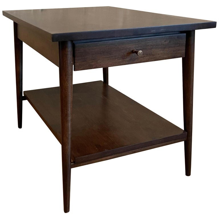 Paul McCobb For Planner Group Ebonized Side Table