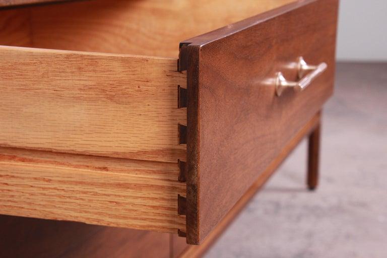 Paul McCobb for Widdicomb Grand Rapids Collection Twelve-Drawer Walnut Dresser For Sale 6