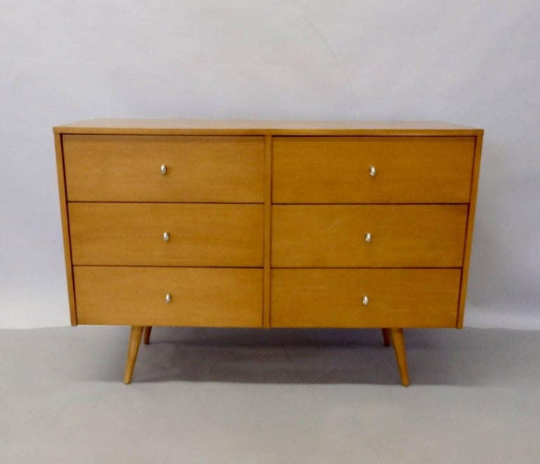 Mid-Century Modern Paul McCobb for Winchendon Original Finish Planner Group Double Dresser For Sale