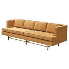 Paul McCobb Grand Sofa with Brass Base